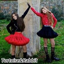 Пышная юбка-американка для девочек-подростков; однотонная многослойная юбка; Детские сценические костюмы; детская одежда для выпускного бала; фатиновые юбки-пачки для детей от 15 до 16 лет