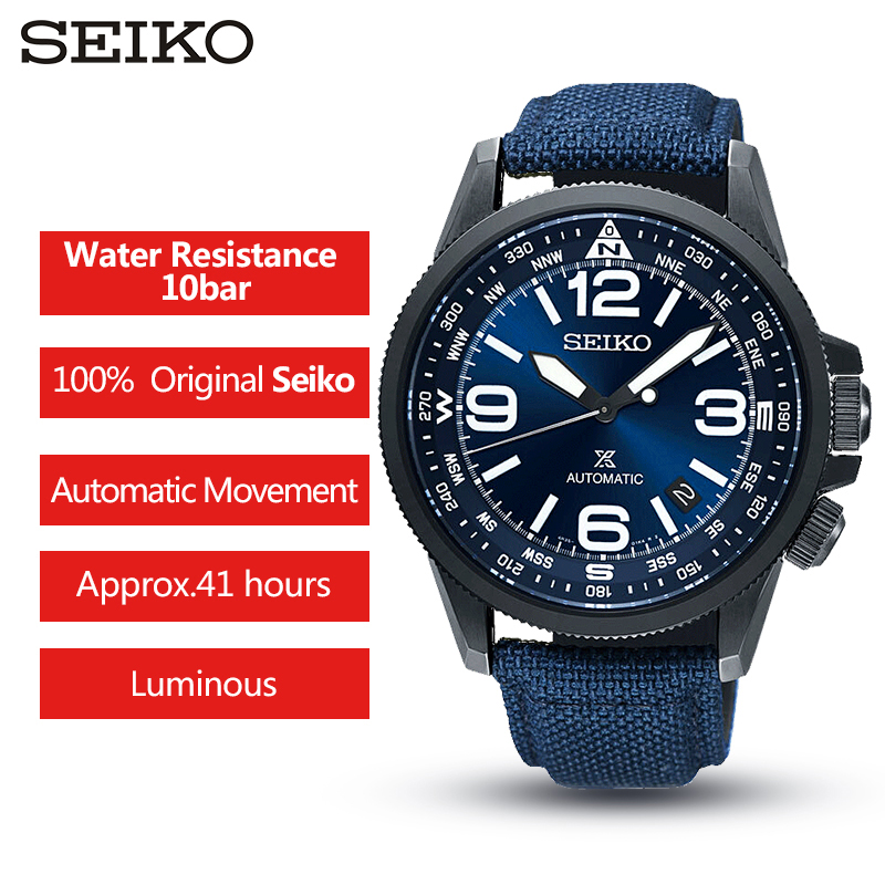 SEIKO brand official original product PROSPEX series watch men automatic mechanical watch casual fashion waterproof wristwatch-in Sports Watches from Watches