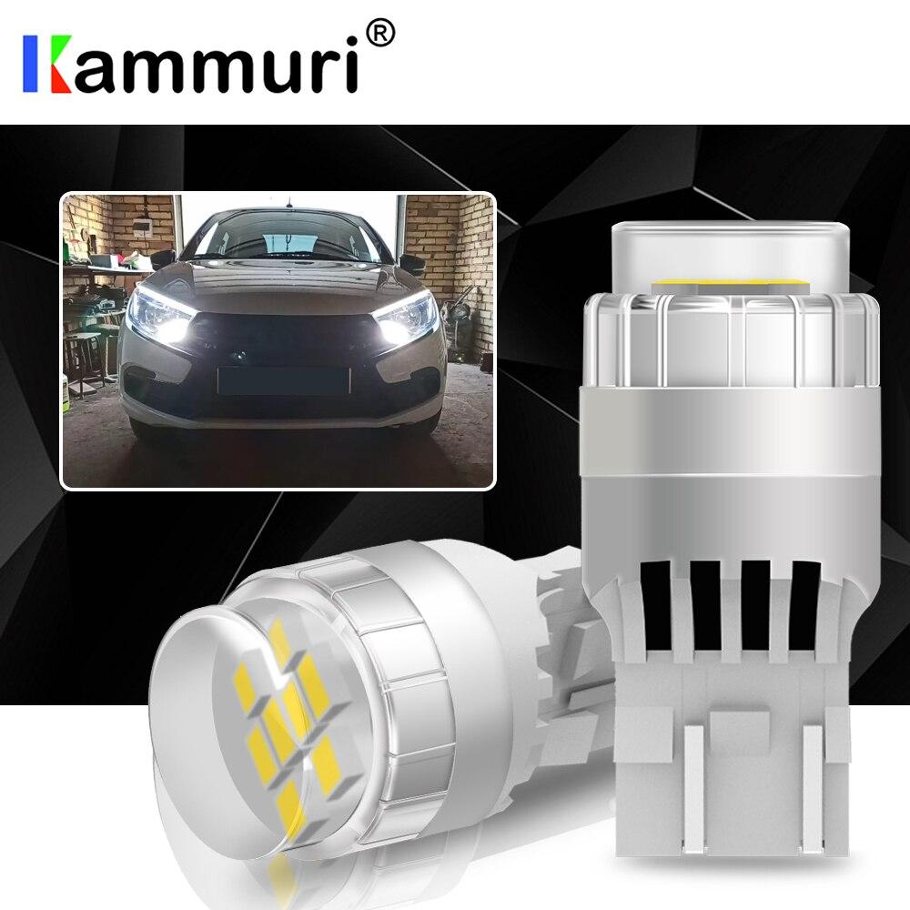 KAMMURI без ошибок T20 7440 W21W 7443 SRCK W21/5W светодиодный светильник для LADA Kalina Granta Vesta светодиодный светильник DRL белый 6000k 1200lm