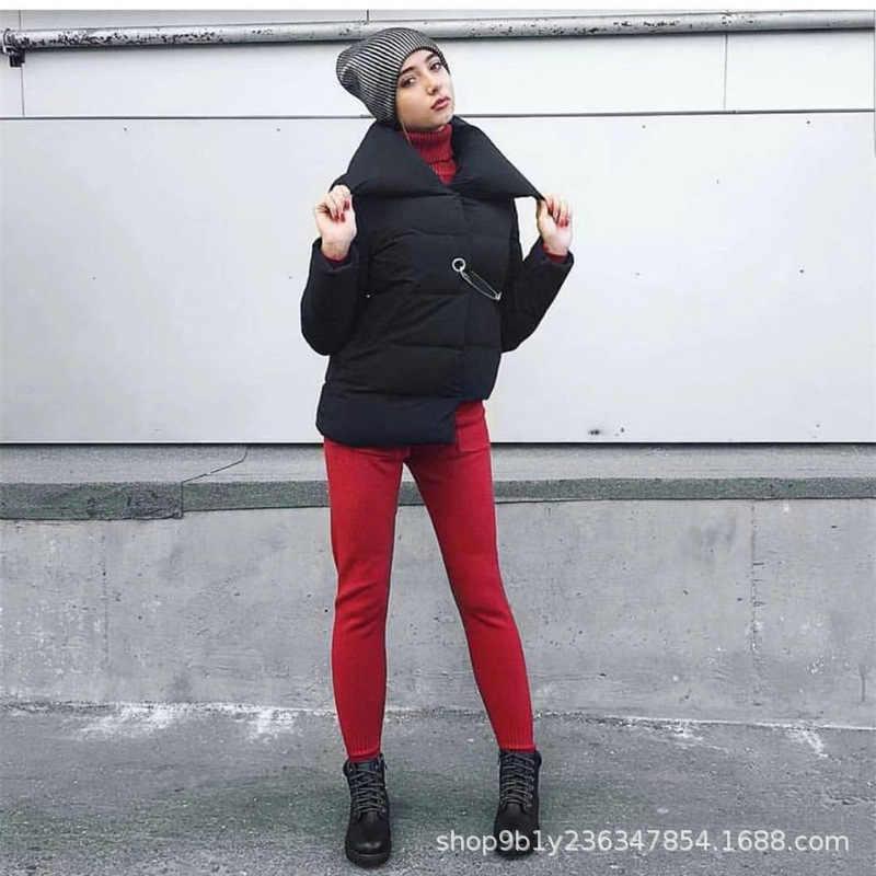 2019 Россия хит продаж женское стеганое хлопковое пальто Необычные большие булавки современные и трендовые/женские пересекающие границы осень и зима Ne