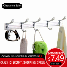Zhang Ji Aluminium Alloy Robe Hook 5 Hooks Cloth Rack Rustproof Wall Mounted Coat Hat Holder Bathroom Organizer Towel Hanger