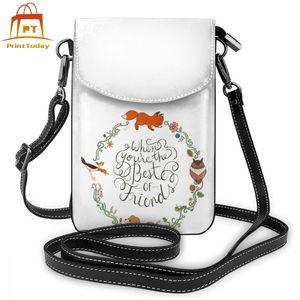 Image 2 - Fox Shoulder Bag Fox Leather Bag Trending Multi Pocket Women Bags Womens Print Mini Student Shopping Purse