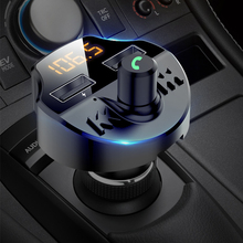 цена на T66 Charger Cable Handsfree Car Kit Bluetooth Wireless FM Transmitter LCD car MP3 Player USB Charger Car Accessories Audio Cable