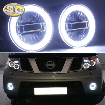 цена на SNCN 3-IN-1 Functions Auto LED Angel Eyes Daytime Running Light Car Projector Fog Lamp For Nissan Pathfinder R51 2005 - 2015