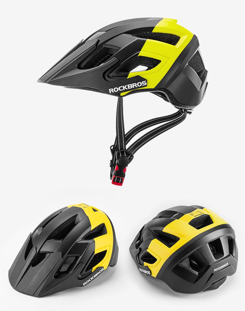 【bundles】 ROCKBROS Electric Bicycle Helmet Men Women Breathable Shockproof MTB Road Bike Motorcycle Safety Helmet Cycling Aero