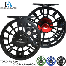 Maximumcatch Fly Reel Machined Aluminium Micro Adjusting Drag Large Arbor Fly Fishing Reel 3/4/5/6/7/8WT