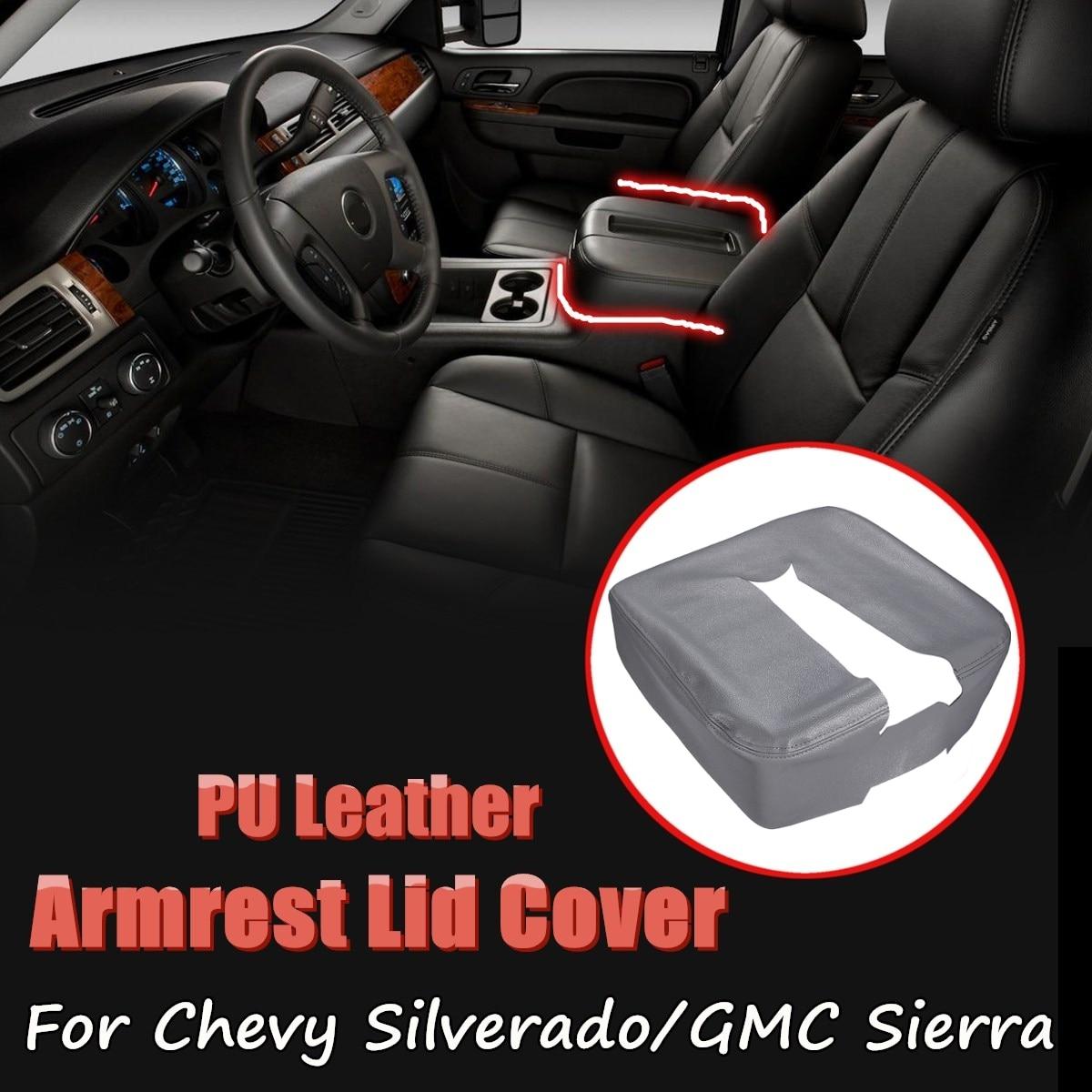 Étui de protection de couverture d'armres de couvercle de Console centrale de voiture en cuir d'unité centrale pour Chevy Silverado 1500 2500 3500 LT LTZ 2007-2014