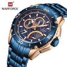 Naviforce повседневные часы для мужчин спортивные мужские Лидирующий