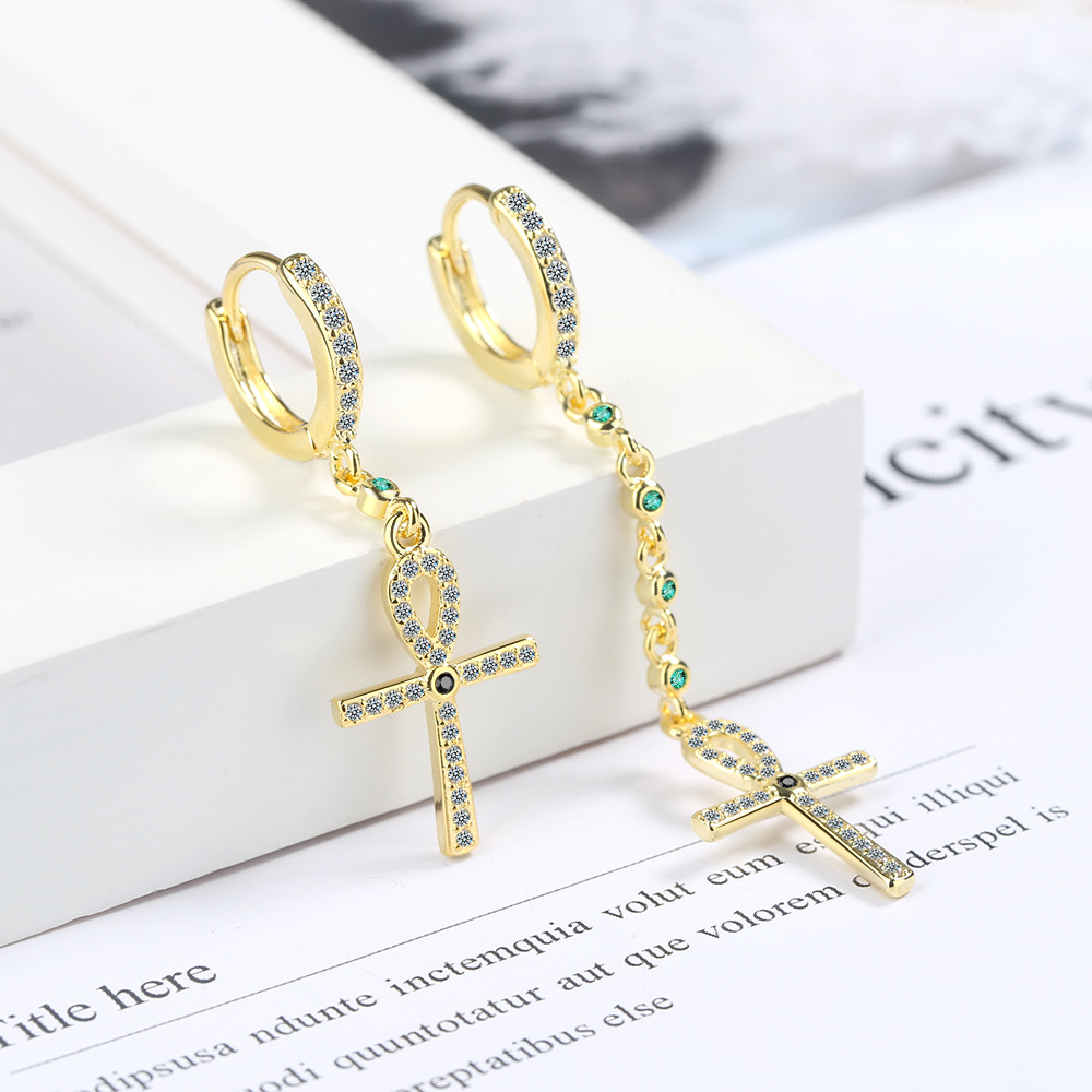 Fashion Asymmetrical Cross Ear Clips Earrings For Women Sexy Elegant Girl Earrings Fashion Jewelry Wedding Party Gift For Lady