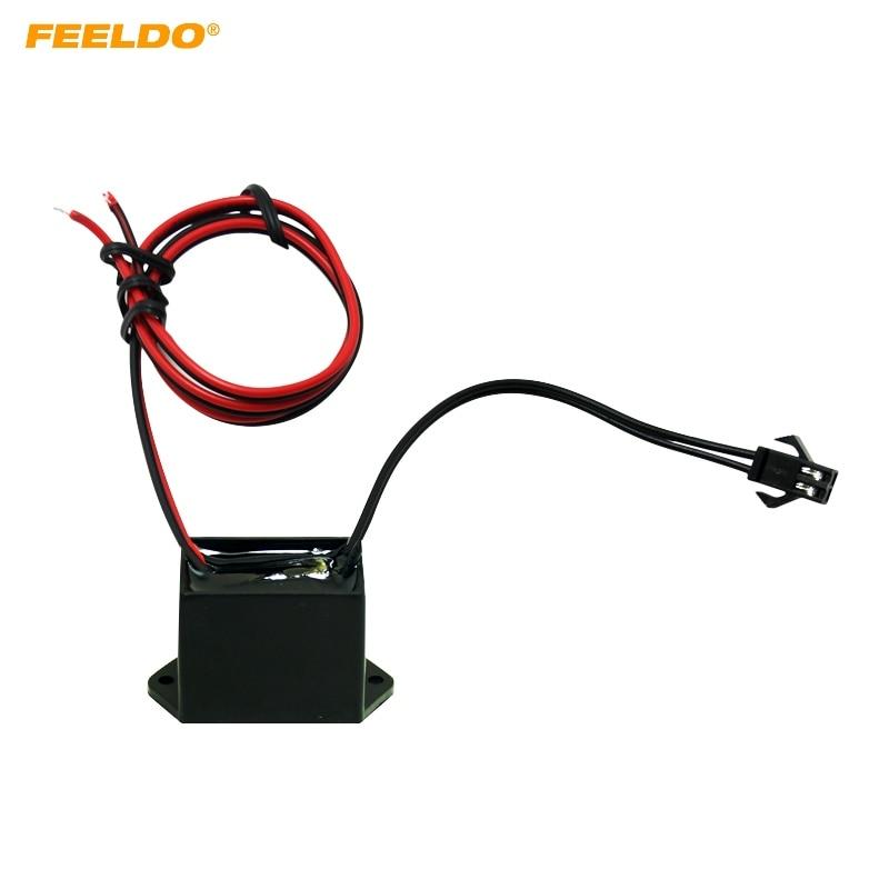 FEELDO 1PC 12VDC Car Decoration EL Fibre Neon Glow Lighting Rope Strip Power Driver Inverter