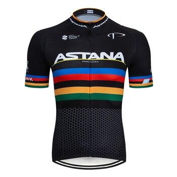 2020 preto astana roupas de ciclismo bicicleta jérsei secagem rápida dos homens roupas verão equipe ciclismo jérsei 9dgel bicicleta shorts conjunto 8