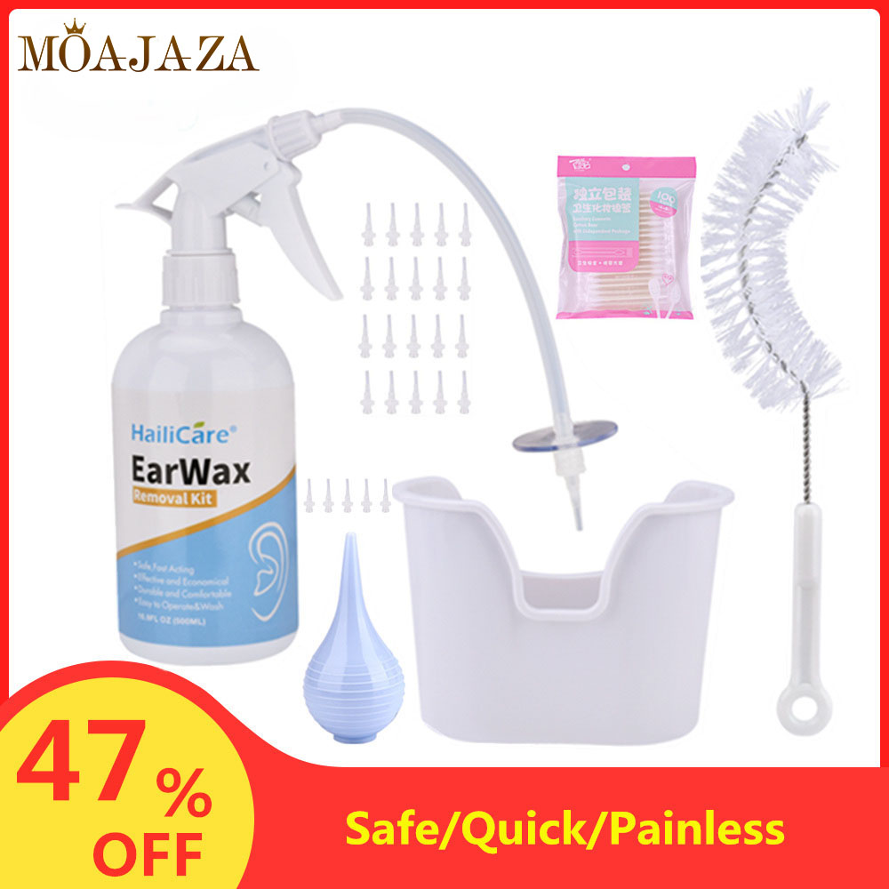 300/500mL Ear Wax Irrigation Ear Cleaner Washing Syringe Squeeze Bulb Cleaning Kit Ear Care Cerumen Earwax Removal Tool