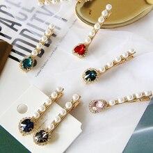 Gorgeous Shiny Pearl Crystal Diamond Hairpins Hair Clip Headwear for Elegant Women Gils
