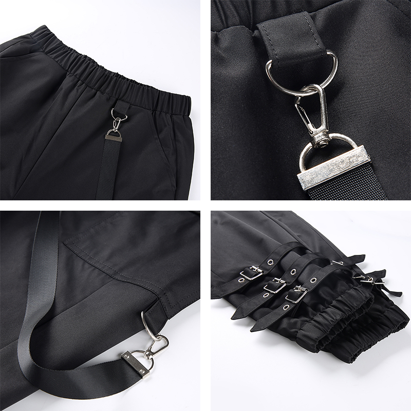 H630ebed65a2845a79ccd549d0501a94be Waatfaak Outerwear Crop Bomber Jacket Women Patch Long Sleeve Autumn Jacket Female Pocket Pin Buckle Zipper Streetwear Jacket