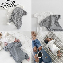 ZAFILLE 2020 Cotton Newborn Infant Baby Romper Ropa De Bebe Long Sleeve Baby Girl Boy Solid Jumpsuits Wing Toddler Kids Clothes zafille long sleeve baby romper printed baby boy clothes cotton newborn infant baby girl clothing kids clothes baby jumpsuits
