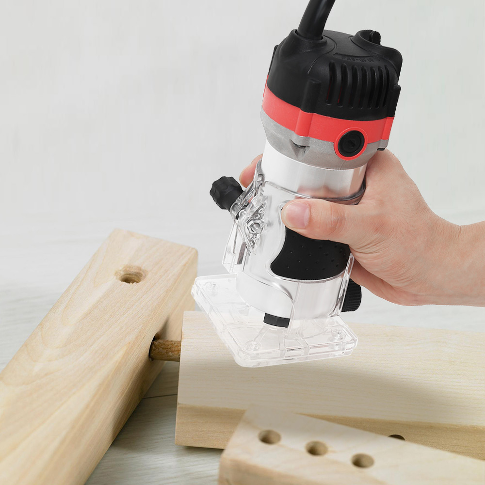 220V 1200W Holzbearbeitung Elektrische Trimmer Holz Fräsen Gravur Stoßen Trimmen Maschine Hand Carving Maschine Holz Router Set