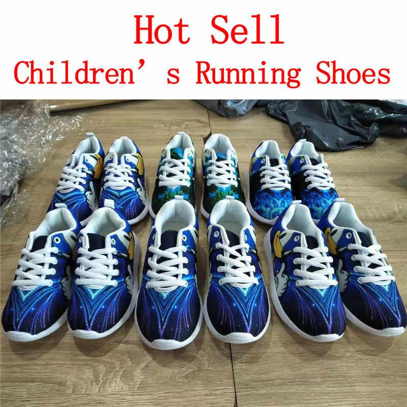 NOISYDESIGNS ילדים נעלי בנות חתולי חיות ריצה חיצונית לנשימה ילדי Tenis Infantil שרוכים Sapatos Buty