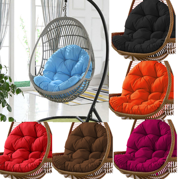 Swing Hanging Basket Seat Cushion Thickened Hanging Egg Hammock Rocking Chair Seat Pads For Home Patio Garden Living Rooms