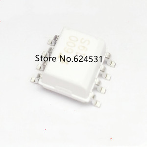 free shipping 10pcs 600 optocoupler HCPL0600R2 patch SOP8 original HCPL-0600 small package 6N137 white