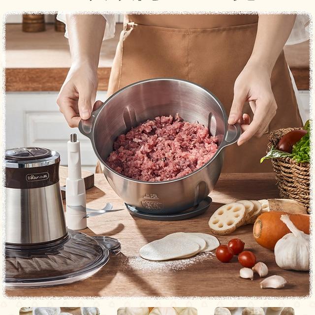 Stainless Steel Electric Chopper Meat Grinder 2.5L Capacity Mincer Food Processor Slicer Multifunction Home Shredders MM60JRJ 3