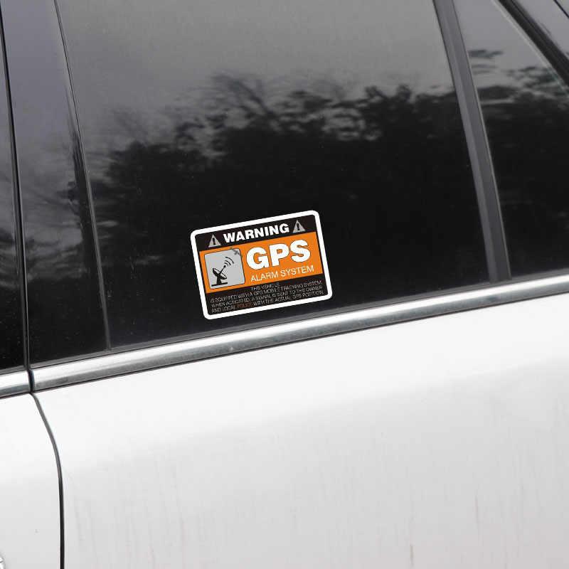 Aliauto 4 X Peringatan Stiker Mobil Sistem Alarm GPS Decal Aksesoris PVC untuk Mercedes Honda Toyota Volkswagen Renault 8 Cm * 5 Cm