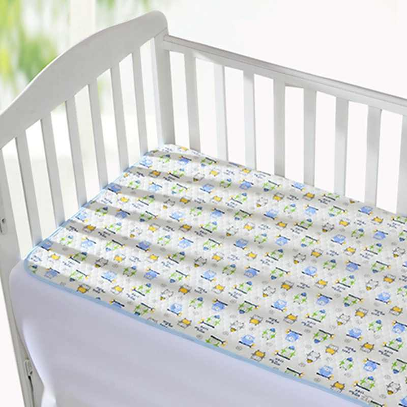 Baby Nappy Changing Pad Ecologic Cotton Diaper Changing Mat Cartoon Baby Waterproof Mattress Bed Sheet Infant Change Mat Cover