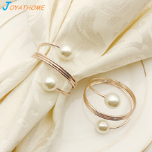 12pcs/Lot Pearl Spring Napkin Ring Holder Wedding Rings Christmas Anel de Guardanapo Xmas for Table