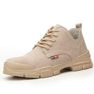 Image 3 - 2019 אופנה גבר נעלי בטיחות הבוהן פלדה קיץ לנשימה קל לרסק הוכחת דקירה בטוח רתך עבודה בטיחות אתחול עבודה נעליים