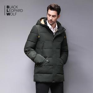 Image 3 - Blackleopardwolf 2020 חורף למטה מעיל גברים מעיל חורף גברים של מעילי אמצע אורך סלעית חם מקרית סמני Parka BL 833