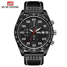 Quartz Watches Men Leather Automatic Date Top Brand Luxury Waterproof Clock Male Sport Analog Wristwatches