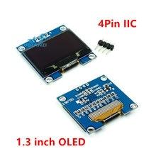 Module d'affichage LED LCD OLED, 1.3 pouces, 1.3 pouces, RoHS, blanc/bleu, IIC I2C, couleur de communication, 1.3x64