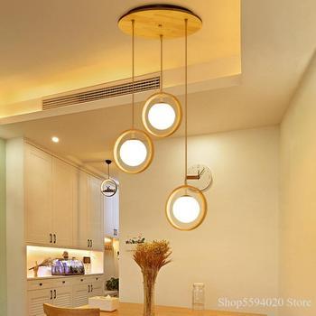 Nordic Restaurant Ring Small Pendant led Lighting Bar Creative Simple Lamps Pendant Lamp Kitchen Home Decor Chandelier Lighting