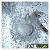 8 mil sunice segurança transparente janela de vidro filme inquebrável efeito proteção segurança casa banco banheiro 152x900 cm|Pel. janela| |  -