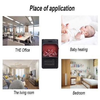 Электрический ЕС вилка зима грелка 500 Вт для домашнего офиса использование пространства нагреватель Портативный Пламя дистанционное управ...