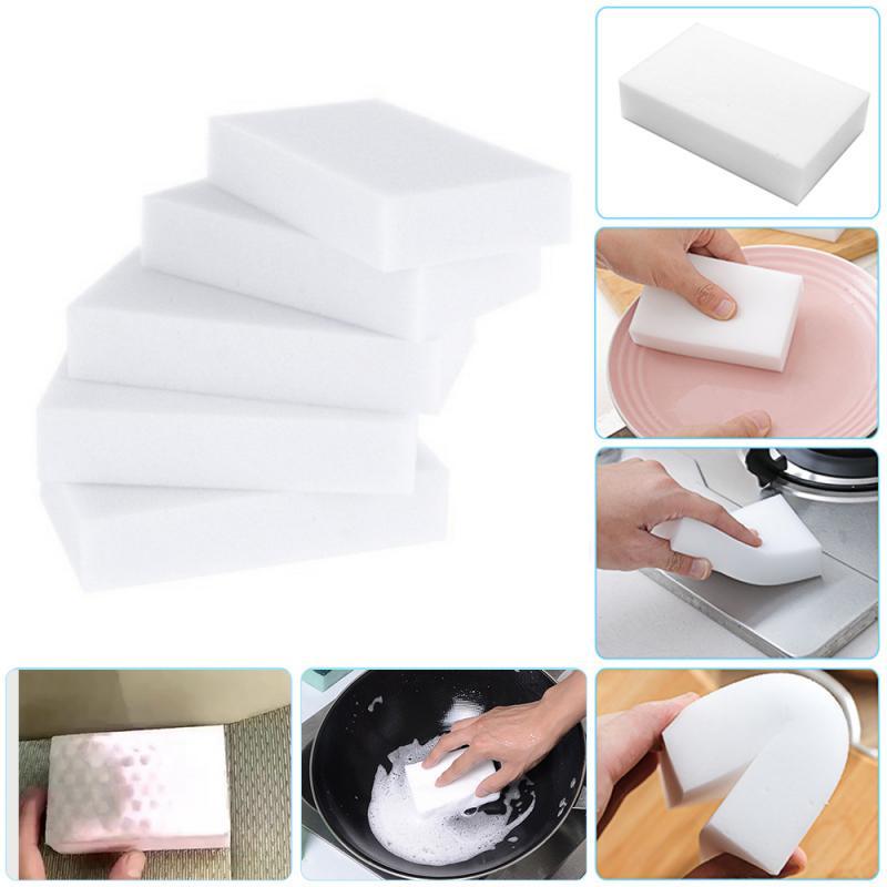 50 шт., Нетоксичная белая меламиновая нано-губка, волшебная губка, ластик для автомобильных фотографий, инструмент для чистки посуды