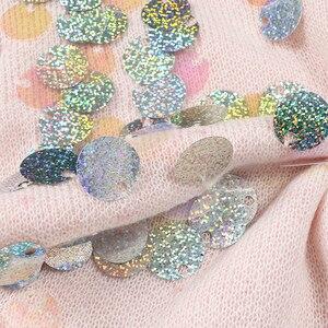 Image 5 - אביב ואגלי פאייטים Loose סרוגים ארוכים נשים 2020 אופנה ארוך שרוול גבירותיי סוודרים דקים מקרית ג רזי C 058