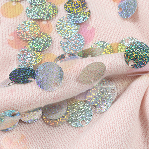 Image 5 - Spring Beading Sequins Loose Knitted Long Sweaters Women 2020 Fashion Long Sleeve Ladies Thin Pullovers Casual Jersey C 058