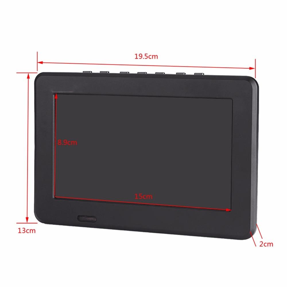7 Inch DVB-T2 TV Digital HD TV 800x480 Analog Television Receiver support Memory Card USB DVB-T TV 18