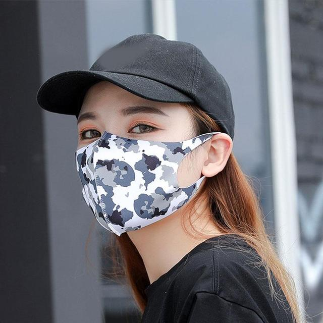New Washable 3D Mouth Mask Summer Sunscreen Face Mouth Mask  Windproof Mouth-Muffle sports Reusable Cotton Mouth Mask 3