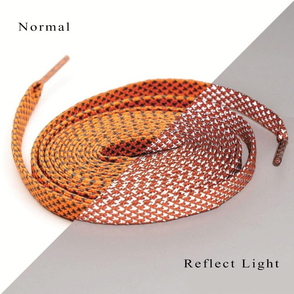 Dot Flat 3M Reflective Shoelaces Runner Weave Tape Athletic Shoe Lace Bootlaces Luminous Shoe Laces Casual Elastic Sport Laces