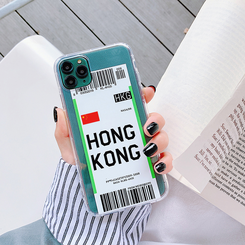 H63100d5e25b14082925eeb8253b03d10C - Luxury New York Seoul London Label Bar code cover For iPhone 6 7 8 plus 11 Pro Xs MAX XR X Clear tpu fashion National flag case