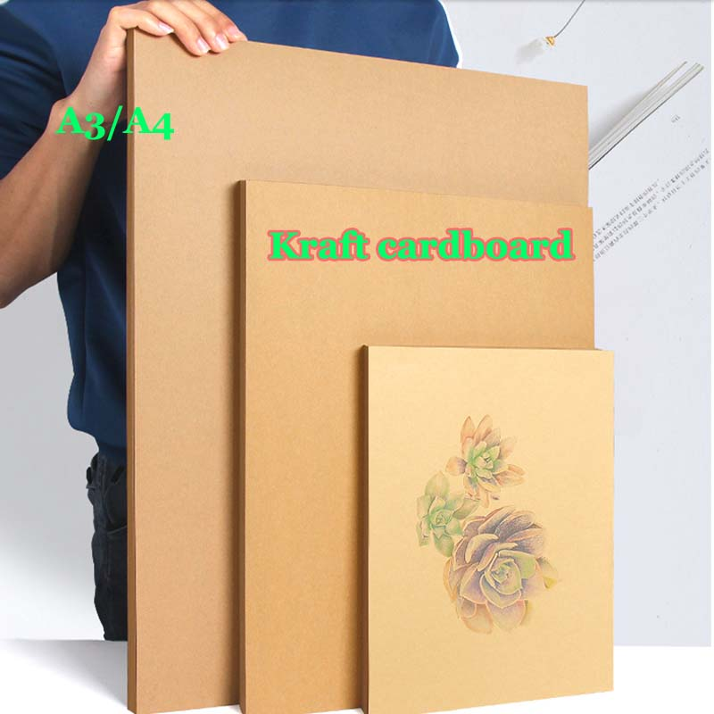 100/50pcs High Quality A4 A3 Brown Kraft  Cardboard Paper DIY Handmake Card Making Craft Paper Thick Paperboard Cardboard