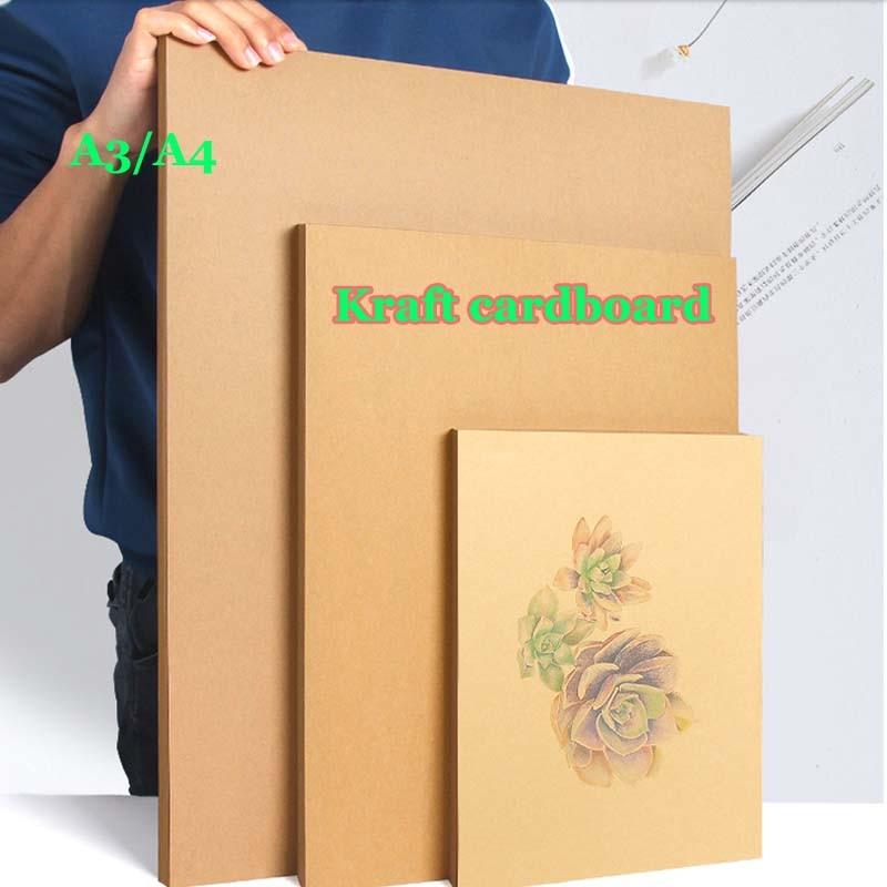 100/50pcs High Quality A4 A3 Brown Kraft  Cardboard Paper DIY Handmake Card Making Craft Paper Thick Paperboard Cardboard