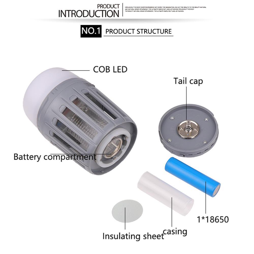 Купить с кэшбэком DishyKooker Portable USB Rechargeable LED Mosquito Killer