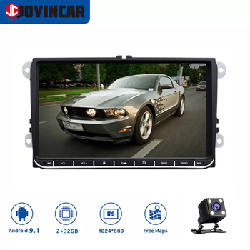 JOYINCAR Android 9.1 Car Auto Audio for VW POLO GOLF 5 6 POLO PASSAT B6 CC JETTA TIGUAN TOURAN EOS SHARAN SCIROCCO CADDY SWC WIF image