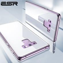 ESR süper sert temperli cam durumda Samsung Galaxy not 9 için kılıf kapak telefon tampon Samsung not 9 cep telefon aksesuarı