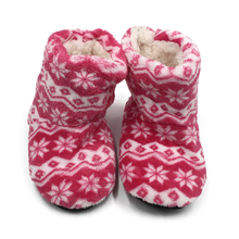 Non-slip Kids Floor Shoes Snowflake Print Warm Plush Slippers Soft Bottom Kids Home Indoor Home Boots Children Slipper Shoes kawai girl soldier sailor moon the cat luna bowknot home cotton flannel slipper ma am indoor non slip floor slipper girl s shoes
