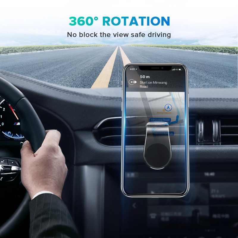 Getihu metal magnético titular do telefone do carro mini clipe de ventilação ar montagem ímã suporte móvel para iphone xs max xiaomi smartphones no carro
