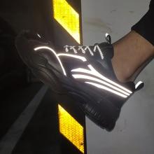 К 2020 году новые Весна легкая Мужская обувь на открытом воздухе толстой подошве кроссовки дышащий свободного покроя удобные мужчины обувь для ходьбы