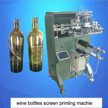 Silk printing machine for wine bottles,screen printing machine cylindrical video фото